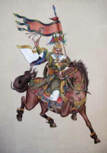 King Gesar painted by HH 17th Gyalwang Karmapa