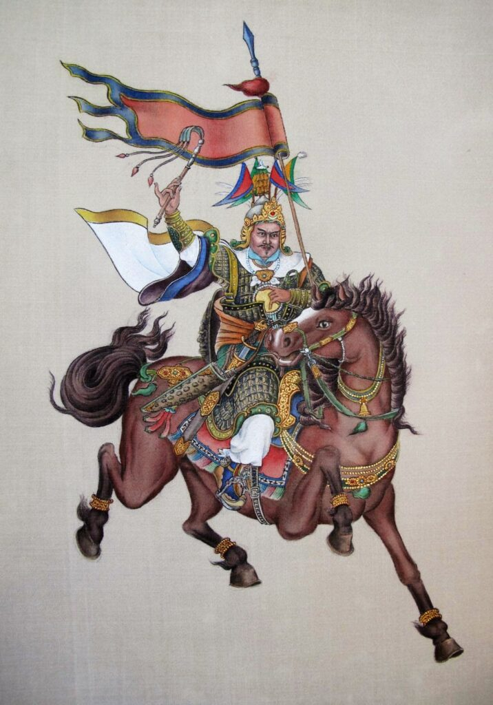 King Gesar painted by HH 17th Gyalwang Karmapa